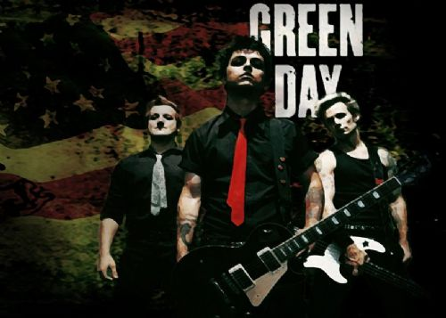 GREEN DAY - PAINT ART 1  / canvas print - self adhesive poster - photo print